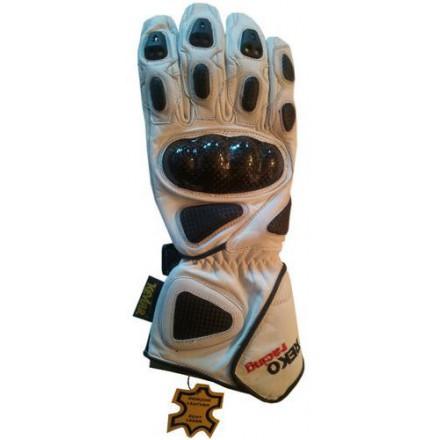 Guantes racing REKO color blanco DB-323