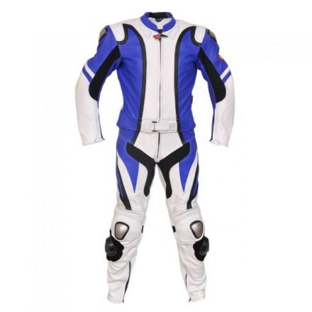 Mono de moto 2 piezas Reko BC-202 color azul