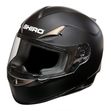 Casco Shiro SH-712 Monocolor Negro Mate