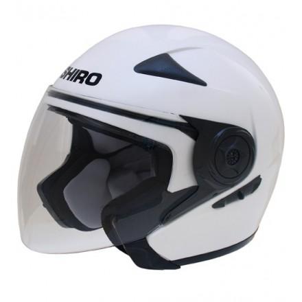 Casco Shiro SH-55 Monocolor blanco