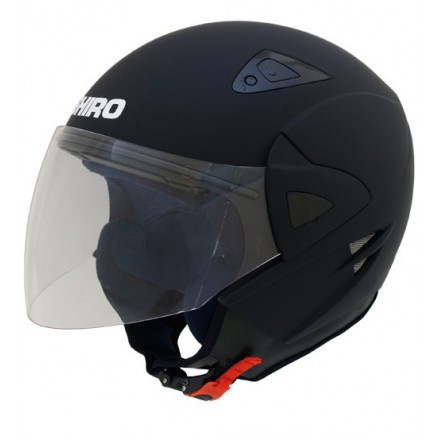 Casco jet SHIRO SH-60 Manhathan negro mate