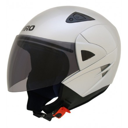 Casco jet SHIRO SH-60 Manhathan plata