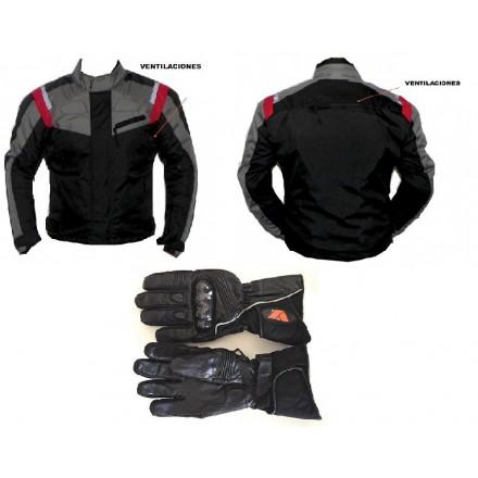 Pack cordura chaqueta + guantes Redbat DB-198