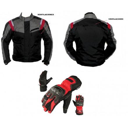 Pack cordura chaqueta + guantes Redbat DB-196