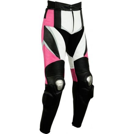 Pantalón de cuero Goyamoto GM-150 rosa