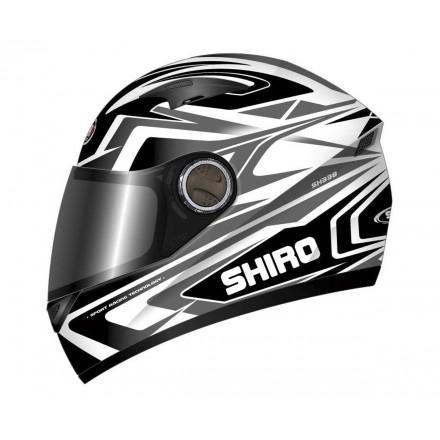 Casco integral de fibra Shiro SH-338 Sepang negro-gris