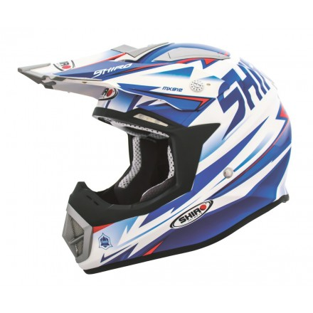 Casco Shiro cross MX-912 Thunder azul
