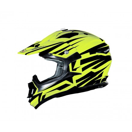 Casco Shiro cross MX-734 Bravo amarillo flúor