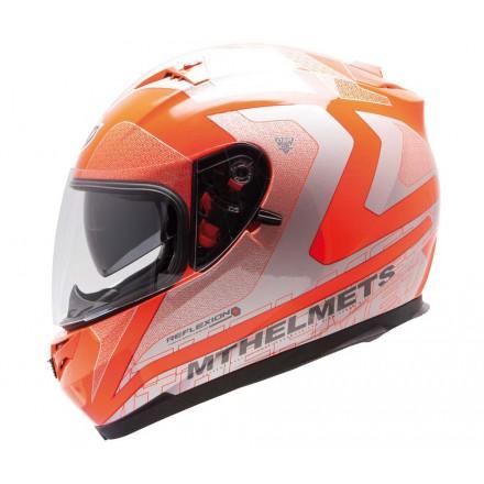 Casco integral MT Blade SV Reflexion Fluor Orange