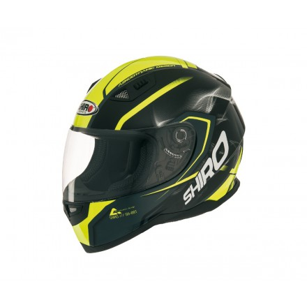 Casco integral Shiro SH-881 Motegi Amarillo Flúor