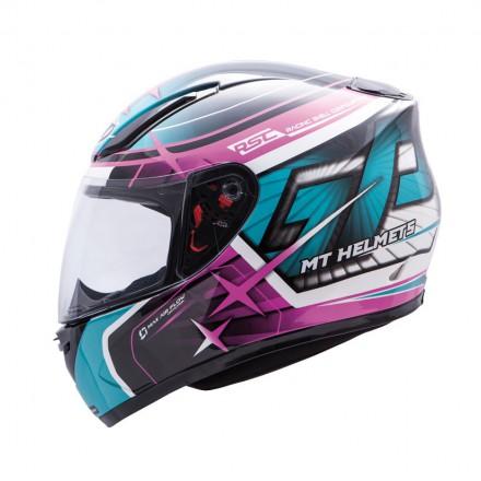 Casco integral MT Revenge Réplica GP Turquoise Dark Pink