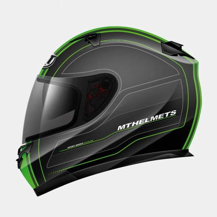 Casco integral MT Blade SV Raceline Matt Black-Fluor Green