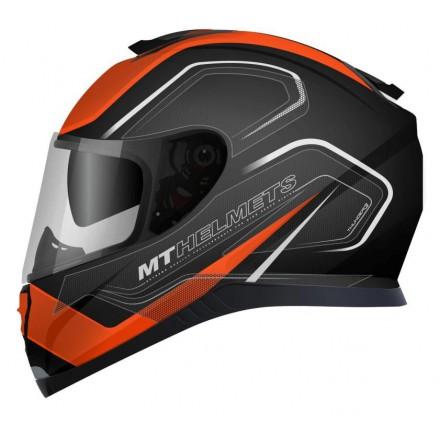 Casco integral MT Thunder 3 SV Trace Matt Black-Fluor Orange