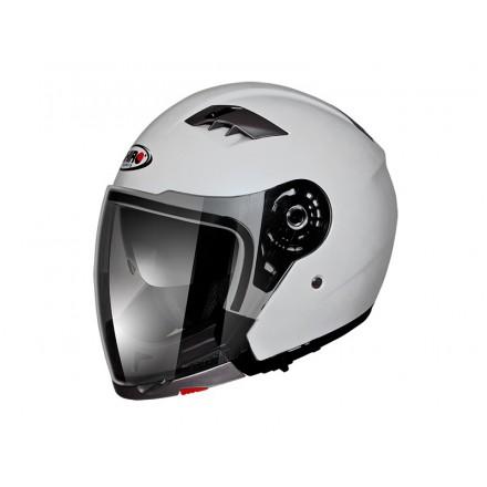 Casco moto Shiro SH-414 System Convertible blanco