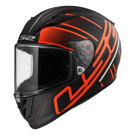 Casco integral LS2 FF323.34 Arrow R Evo Ion Matt Black Red