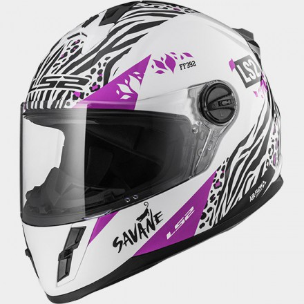 Casco integral LS2 FF392 Junior Savane White Purple