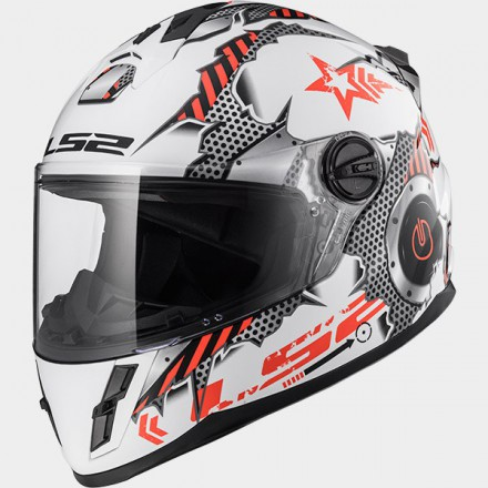 Casco integral LS2 FF392 Junior Machine White Red