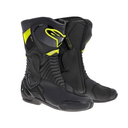 Botas Alpinestars SMX-6 V2 Black-Yellow Fluo
