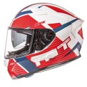 Casco integral MT KRE Rad Gloss Pearl White-Red-Blue