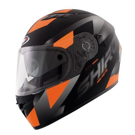 Casco integral Shiro SH-600 Brno Naranja mate