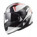 Casco integral LS2 FF320.42 Stream Evo Comamnder White Black Red