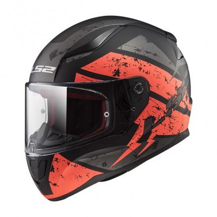 Casco integral LS2 FF353.22 Rapid Deadbolt Matt Black Orange