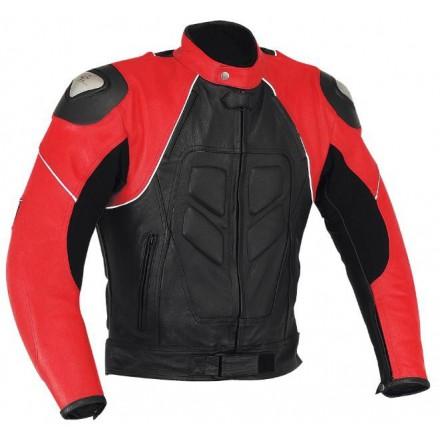 Chaqueta de cuero Goyamoto GM-163 roja