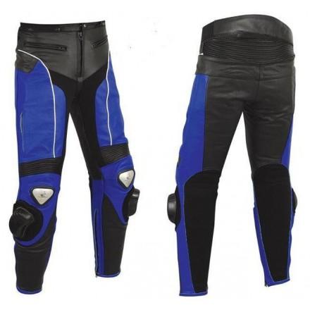 Pantalón de cuero Goyamoto GM-154 azul