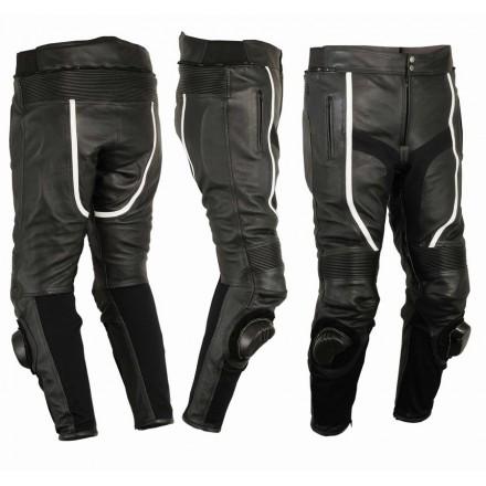 Pantalón de cuero perforado Goyamoto GM-155 negro
