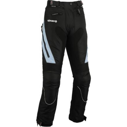 Pantalón de cordura mujer Goyamoto GM-141 color negro-azul celeste