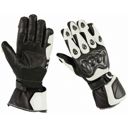 Guantes racing Goyamoto GM-231 color blanco