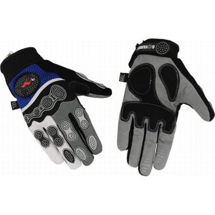 Guantes cortos de motocross Goyamoto GM-241 color azul