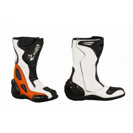 Bota Piel racing GOYAMOTO GM-365 color naranja