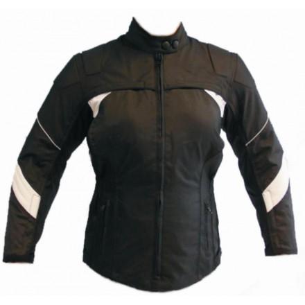 Chaqueta cordura mujer Goyamoto GM-105 color negro-blanco