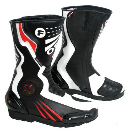 Botas de moto MC-704 color rojo