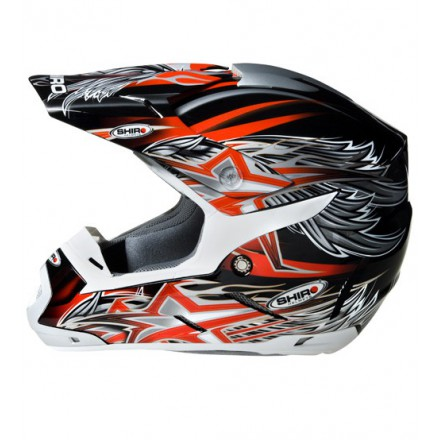 Casco Shiro cross SH-305 Crossover rojo