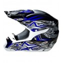 Casco Shiro cross SH-305 Crossover azul
