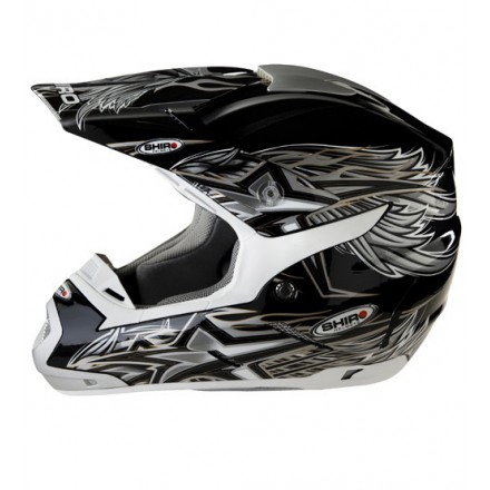 Casco Shiro cross SH-305 Crossover gris