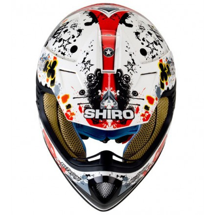 Casco Shiro cross SH-Mathyuni Kids rojo