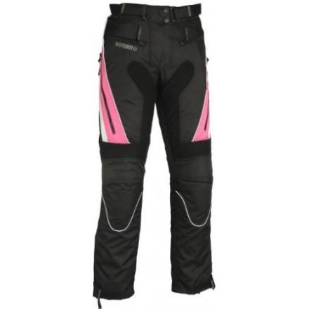 Pantalón de cordura mujer Goyamoto GM-141 color negro-rosa