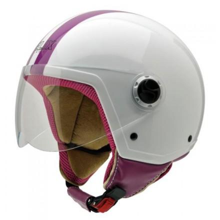 Casco Helix Vintage II CWP blanco-rosa