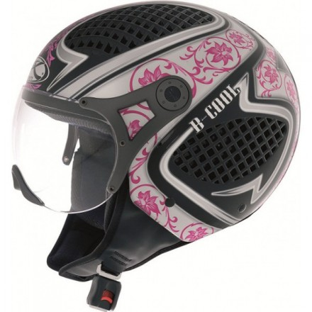 Casco Helix B-Cool BP negro-rosa