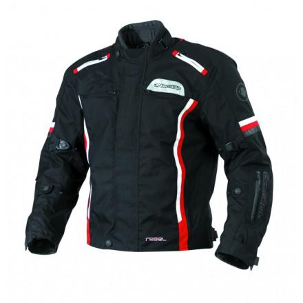 Chaqueta cordura ONBOARD Rebel color negro-rojo-blanco