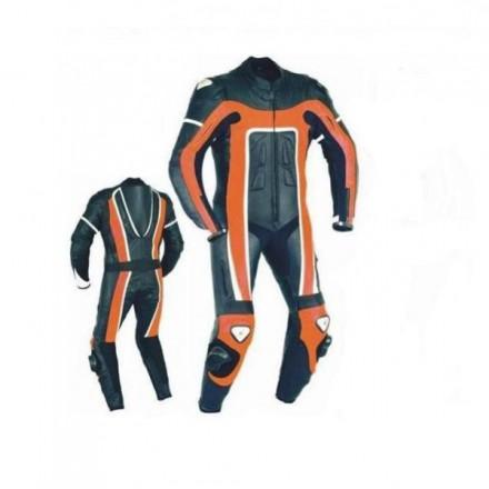 Mono de moto 1 pieza Goyamoto GM-189 doble titanio color naranja
