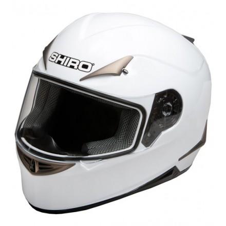 Casco Shiro SH-712 Monocolor Blanco