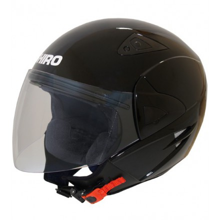 Casco jet SHIRO SH-60 Manhathan negro brillo