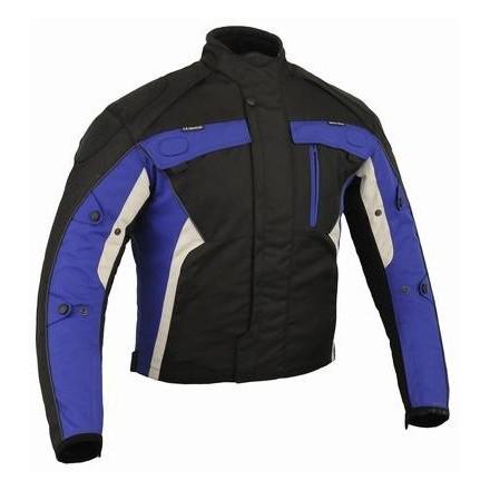 Chaqueta cordura Goyamoto GM-109 color azul-negro
