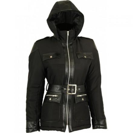 Abrigo de invierno para mujer Goyamoto GM-2424 color negro