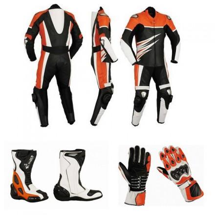 73cd29aee57 Pack moto racing Goyamoto Naranja GM-686 mono-botas-guantes baratos
