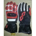 Guantes racing REKO color rojo DB-325